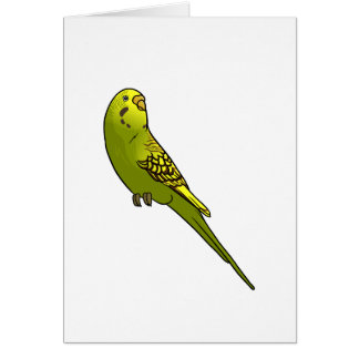 Green and yellow budgie card