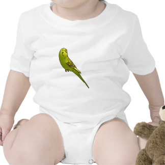 Green and yellow budgie romper
