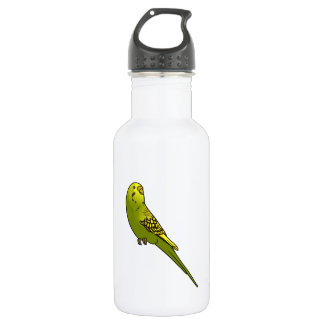Green and yellow budgie water bottle