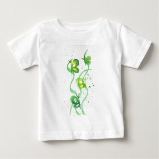Green and Yellow Butterflies Baby T-Shirt
