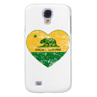 green and yellow california flag oakland heart samsung galaxy s4 covers