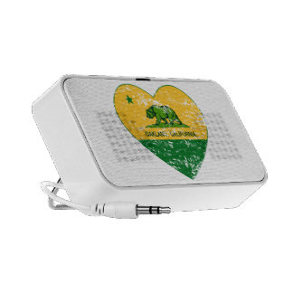 green and yellow california flag oakland heart travelling speakers