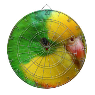 green and yellow canary dartboard