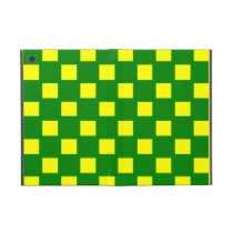 Green and Yellow Checked iPad Mini Case