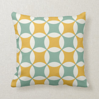 Green and yellow circles pillows