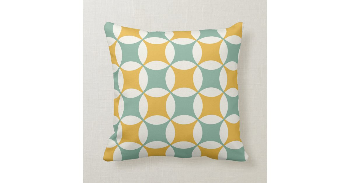 Yellow Green Decorative Pillows : Green and yellow circles throw pillow Zazzle