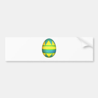 Green and Yellow Dyed Triangle Easter Egg Bumper Sticker