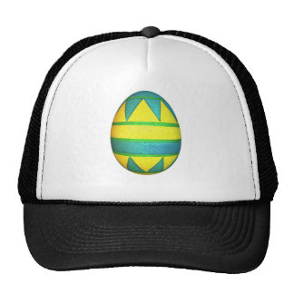 Green and Yellow Dyed Triangle Easter Egg Trucker Hat