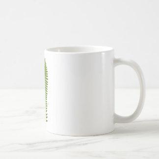 Green and Yellow Fern Leaf Botanical Illustration Coffee Mug