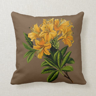 Green and Yellow Flower Throw Pillow 41 x 41 cm