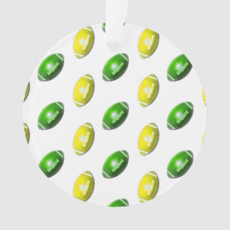 Green and Yellow Football Pattern