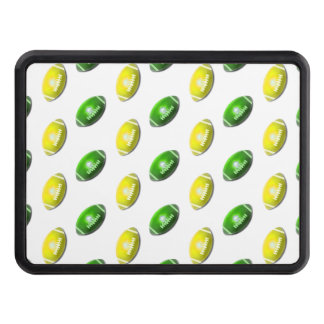 Green and Yellow Football Pattern Hitch Cover