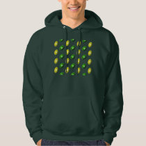 Green and Yellow Football Pattern Hoodie