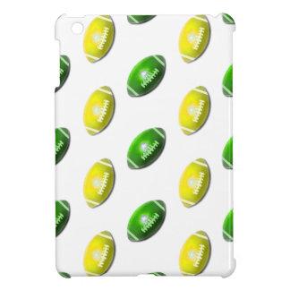 Green and Yellow Football Pattern iPad Mini Cover
