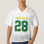Green and Yellow Football Sports Team Jersey
