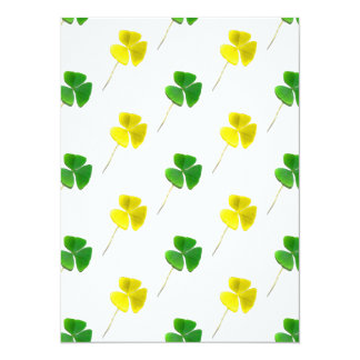Green and Yellow Gold Shamrock Pattern Card