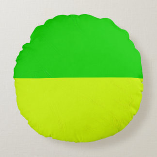 Green and Yellow Happiness Round Pillow
