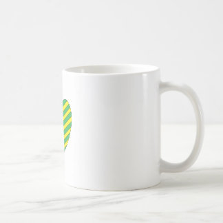 Green and Yellow heart Coffee Mug