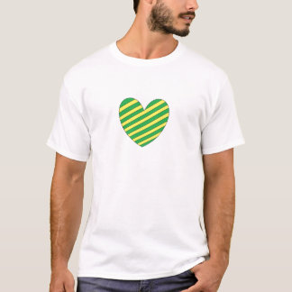 Green and Yellow heart T-Shirt