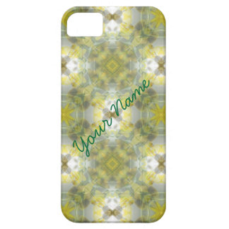 Green and Yellow Kaleidoscope Pattern iPhone SE/5/5s Case