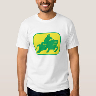 Green and Yellow Lawnmower Racer T Shirt