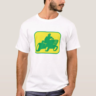 Green and Yellow Lawnmower Racer T-Shirt