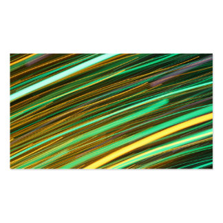 Green and Yellow Light Trails Business Cards