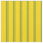 [ Thumbnail: Green and Yellow Lined Pattern Fabric ]
