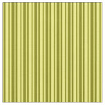 [ Thumbnail: Green and Yellow Lines Pattern Fabric ]