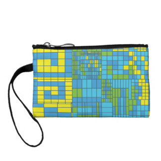 Green and Yellow Mosaic Tile Coin Purse