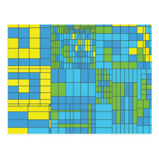 Green and Yellow Mosaic Tile Postcard