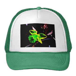Green and Yellow Neon Daffodil Trucker Hat