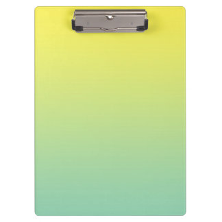 """""""Green And Yellow Ombre"""" Clipboard"""
