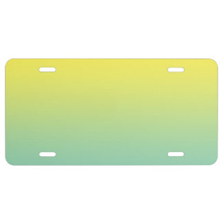 """""""Green And Yellow Ombre"""" License Plate"""