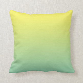 """""""Green And Yellow Ombre"""" Throw Pillow"""
