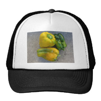 Green and yellow peppers trucker hat