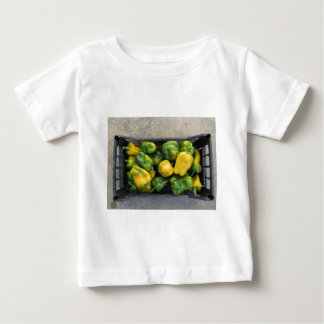 Green and yellow peppers in box baby T-Shirt