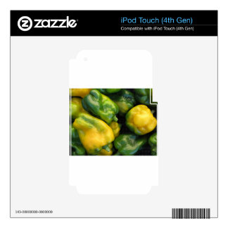 Green and yellow peppers iPod touch 4G skins