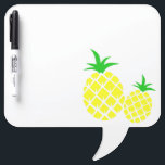 "Green and Yellow Pineapple Pattern Dry Erase Board<br><div class=""desc"">Green and yellow pineapples with graphic pattern.</div>"