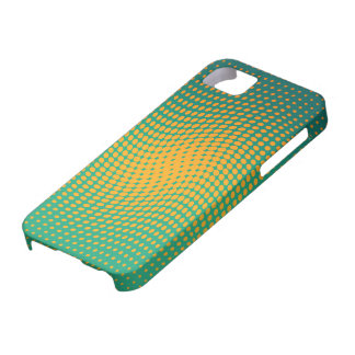 Green and yellow polka dots with a twist iPhone 5 covers