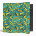 Green and Yellow Pow! Binder