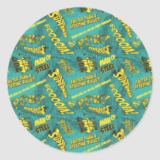 Green and Yellow Pow! Classic Round Sticker