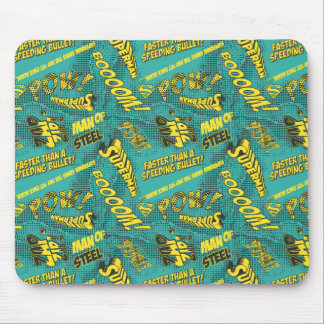 Green and Yellow Pow! Mouse Pad