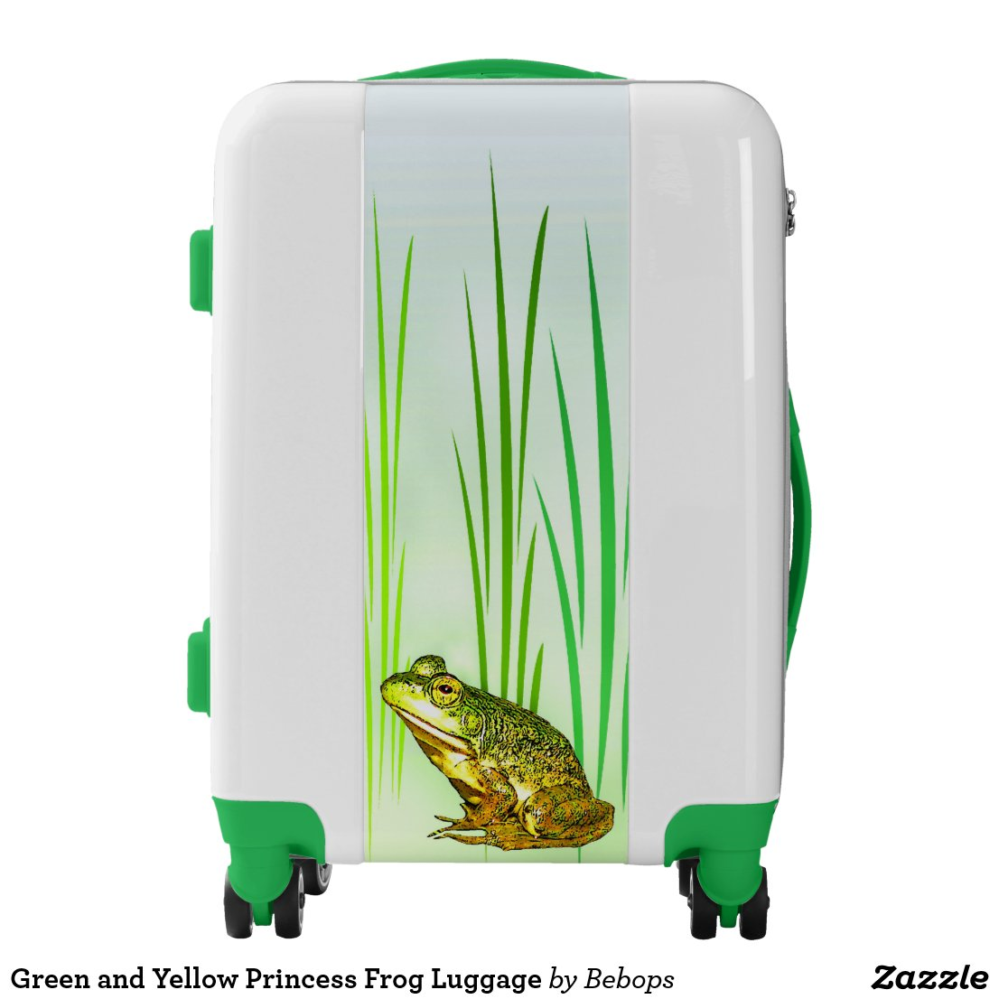 Green and Yellow Princess Frog Luggage