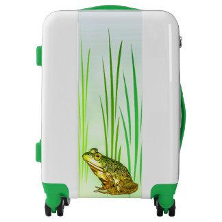 Green and Yellow Princess Frog Luggage