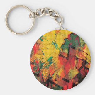Green and Yellow Rust Keychain