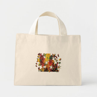 Green and Yellow Rust Puzzle Canvas Bags