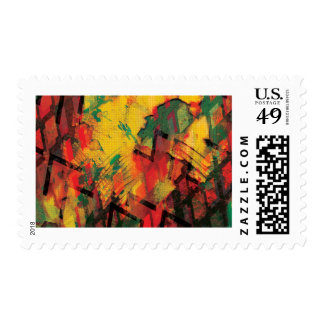 Green and Yellow Rust Stamp