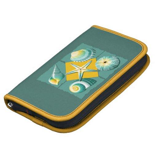 Green and Yellow Sea Shells Folio Planner