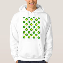Green and Yellow Soccer Ball Pattern Hoodie